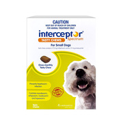 Interceptor Spectrum Chews For Dogs - 4 to 11 kg